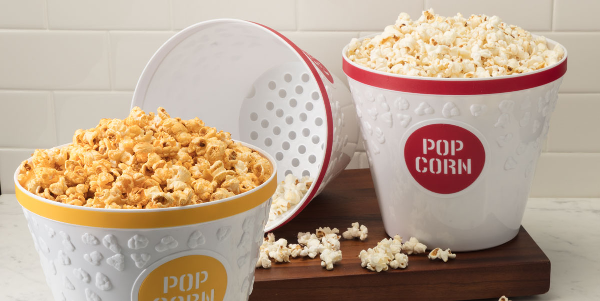 Popcorn Buckets with Kernel Catcher